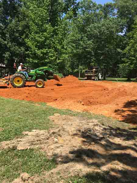 Park Staff Continues Playground Construction